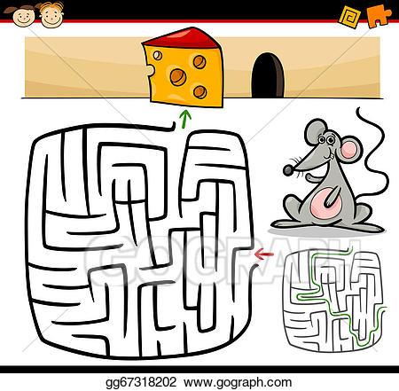 Animal maze clipart vector freeuse stock Vector Art - Cartoon maze or labyrinth game. EPS clipart gg67318202 ... vector freeuse stock
