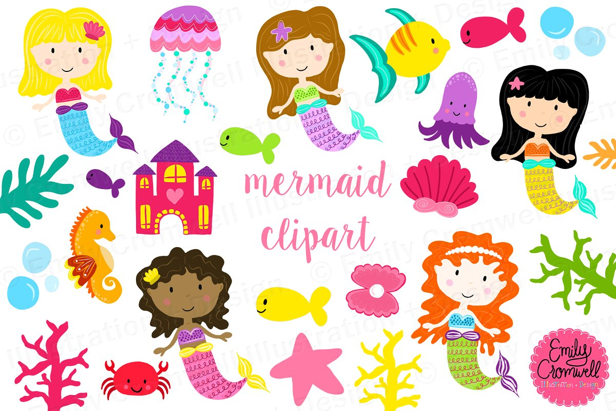 Animal mermaid clipart png library download Mermaid Clipart png library download