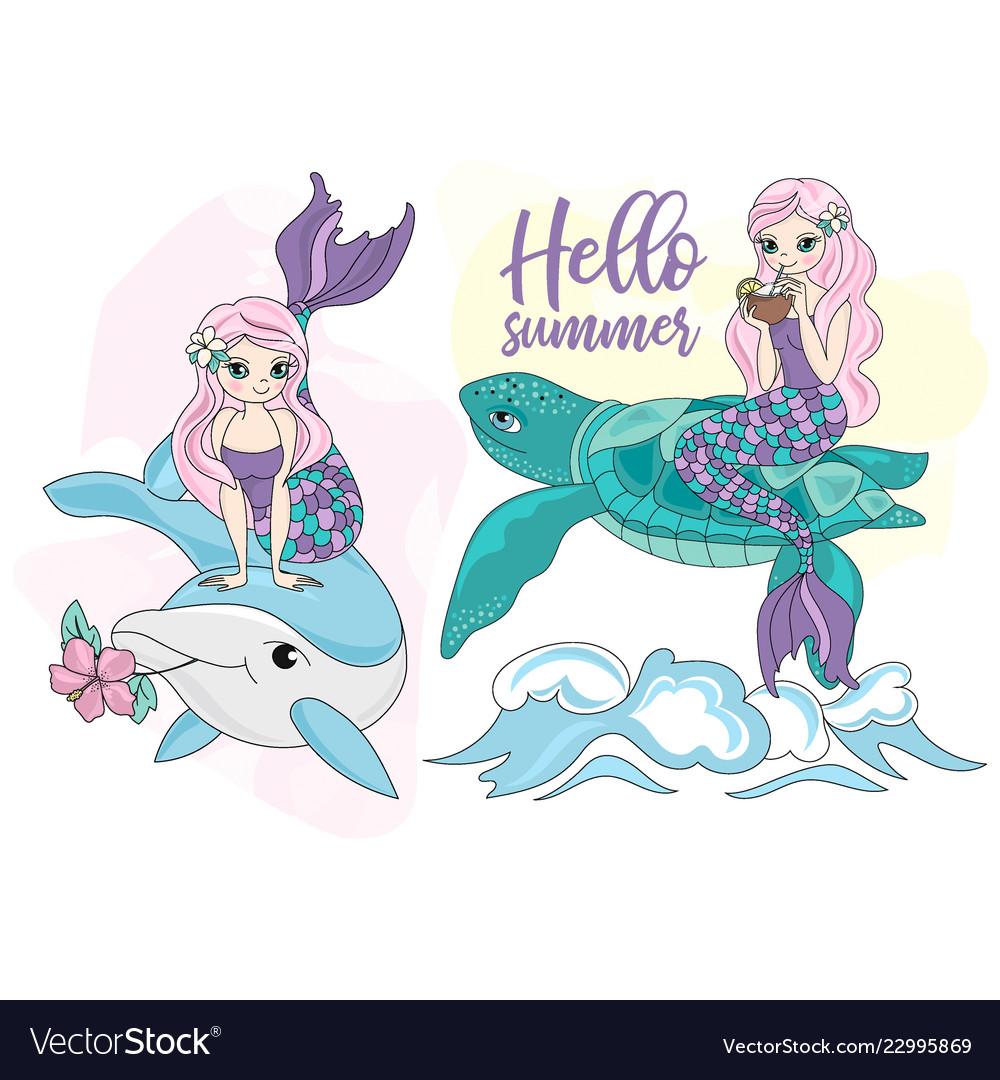 Animal mermaid clipart jpg royalty free stock Mermaid turtle dolphin sea travel clipart jpg royalty free stock
