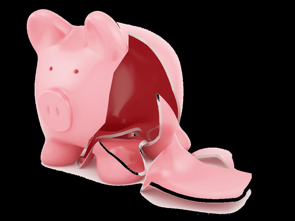 Animal money clipart clip library download Piggy bank Stock photography Money Clip art - Broken bankrupt bank ... clip library download