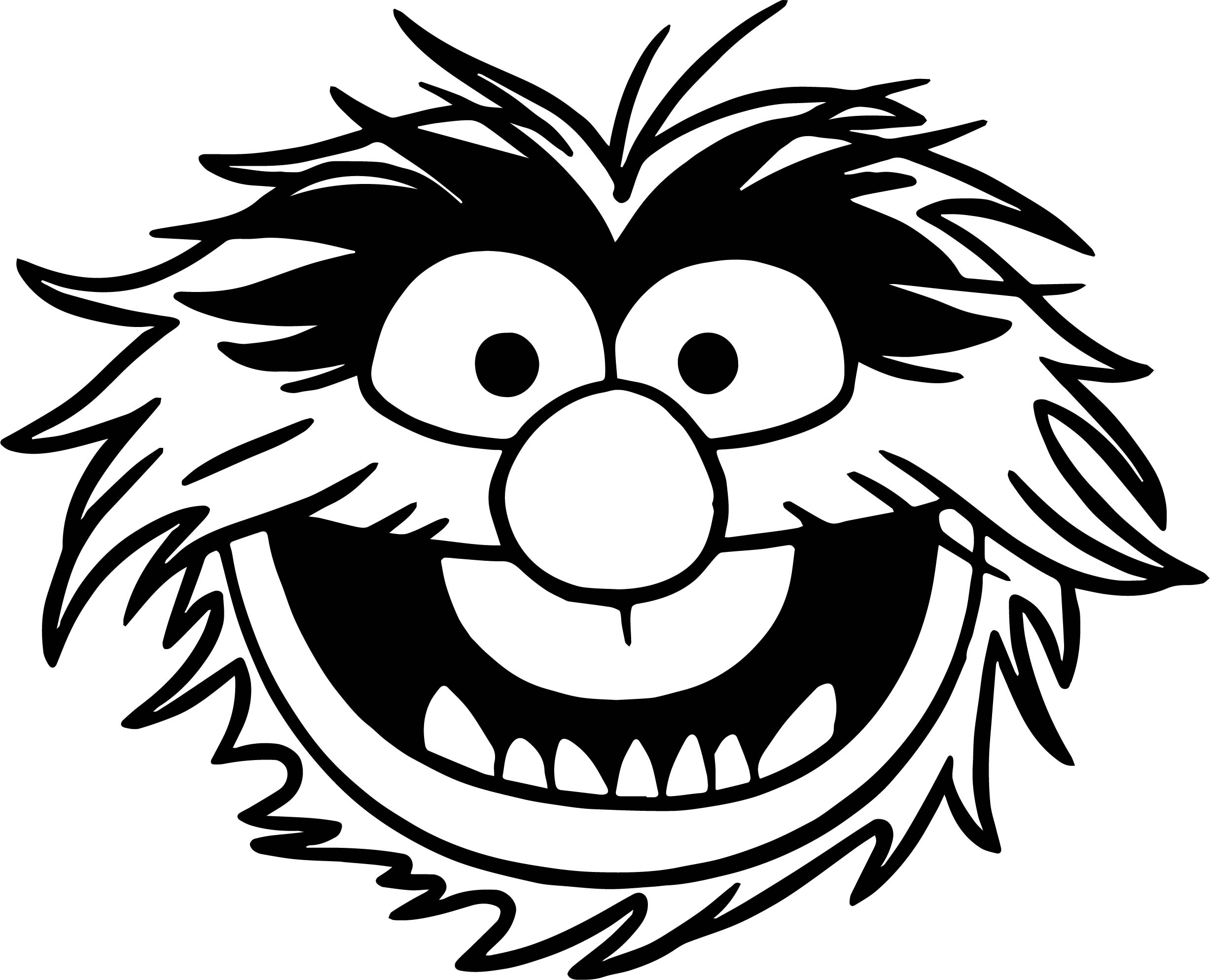 Animal muppet clipart vector black and white stock Collection of Muppets clipart   Free download best Muppets clipart ... vector black and white stock