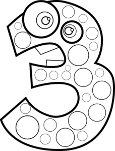 Animal number 3 clipart graphic transparent stock Animal Number Three Lineart Clip Art at Clker.com - vector clip art ... graphic transparent stock