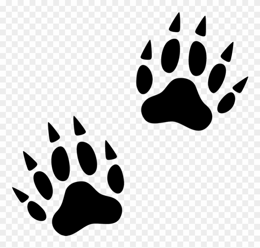 Wolverine paw print clipart png transparent library Svg Free Library Animal Footprints Clipart - Wolverine Paw Print ... png transparent library