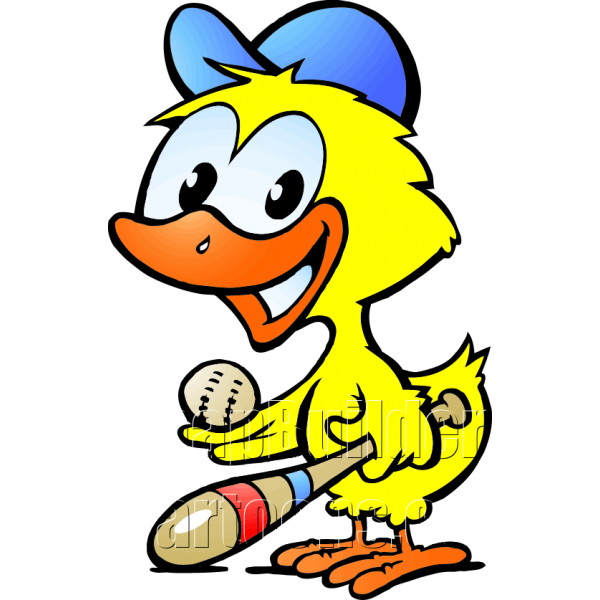 Chicken playing baseball clipart image free library Chicken Baseball Player image free library