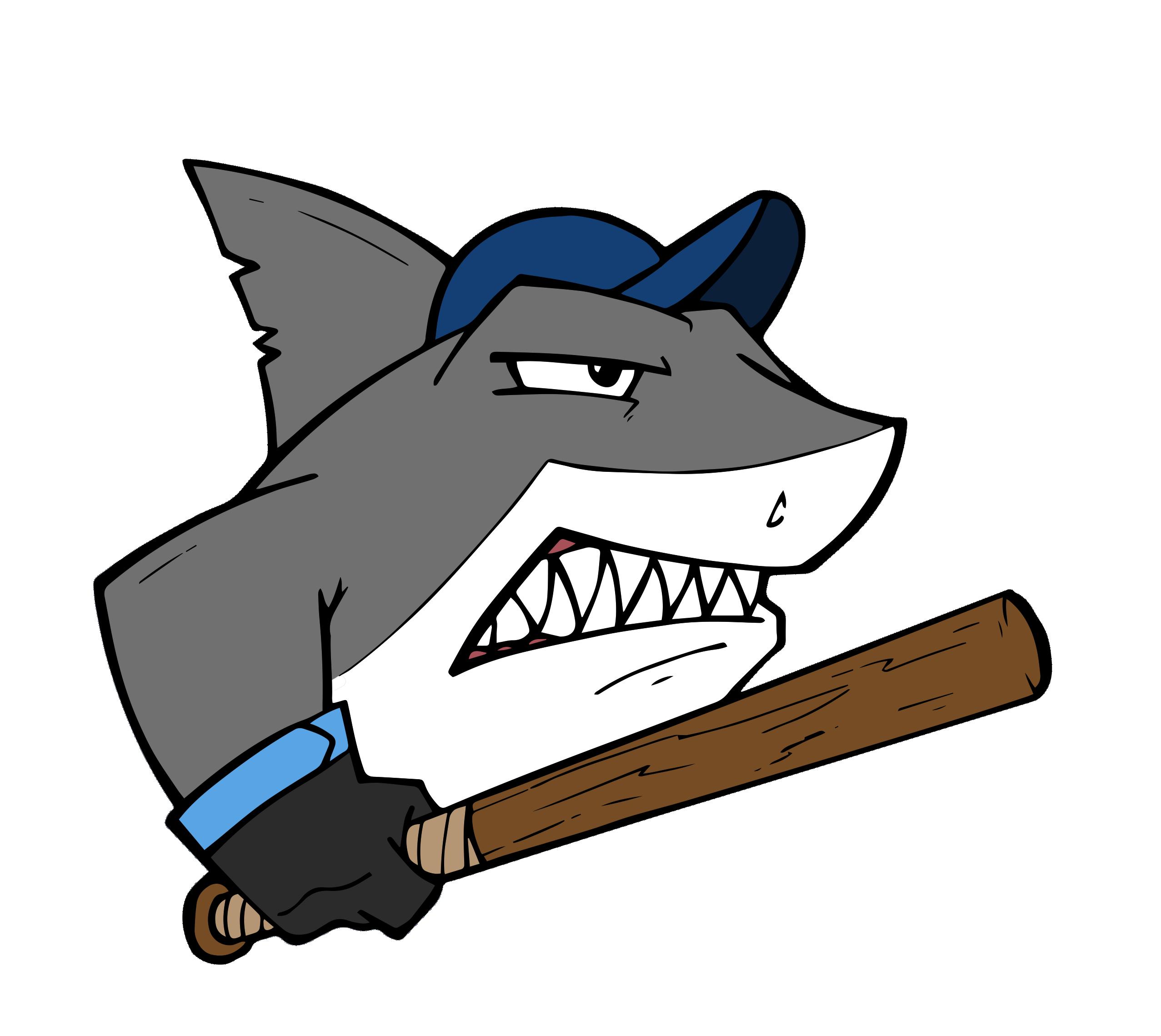 Baseball drawing free clipart vector stock Home - Sharks Baseball vector stock