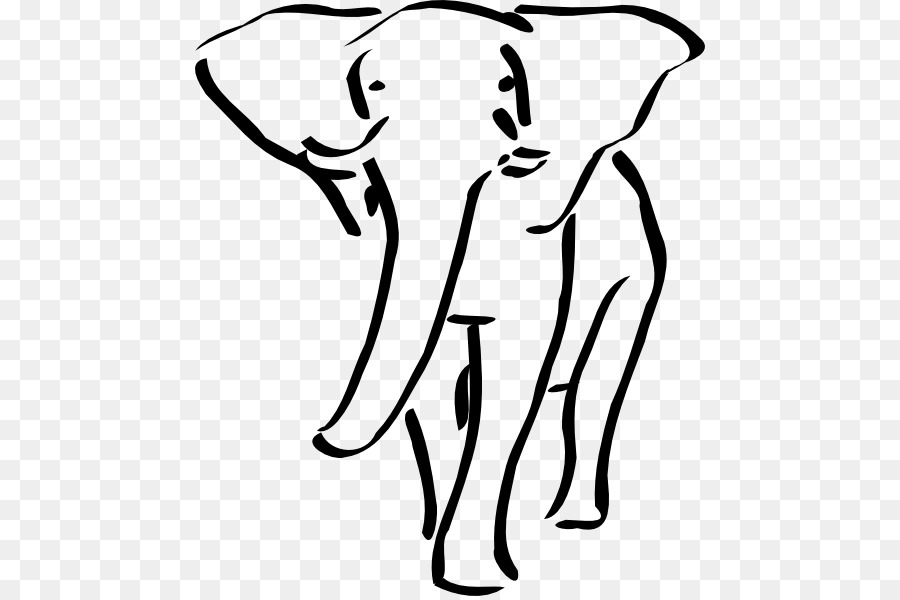Animal poaching clipart black and white download Indian Elephant png download - 510*596 - Free Transparent Rhinoceros ... black and white download