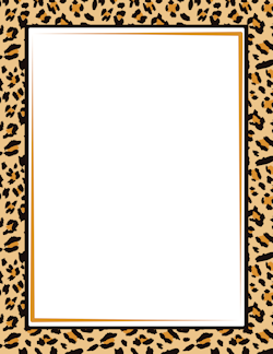 Animal print clipart background transparent download Leopard Print Border | Borders- Animals | Page borders, Printable ... transparent download