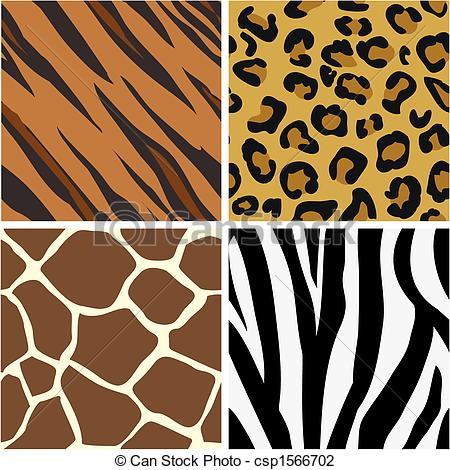 Animal print patterns clipart - ClipartFest image black and white library