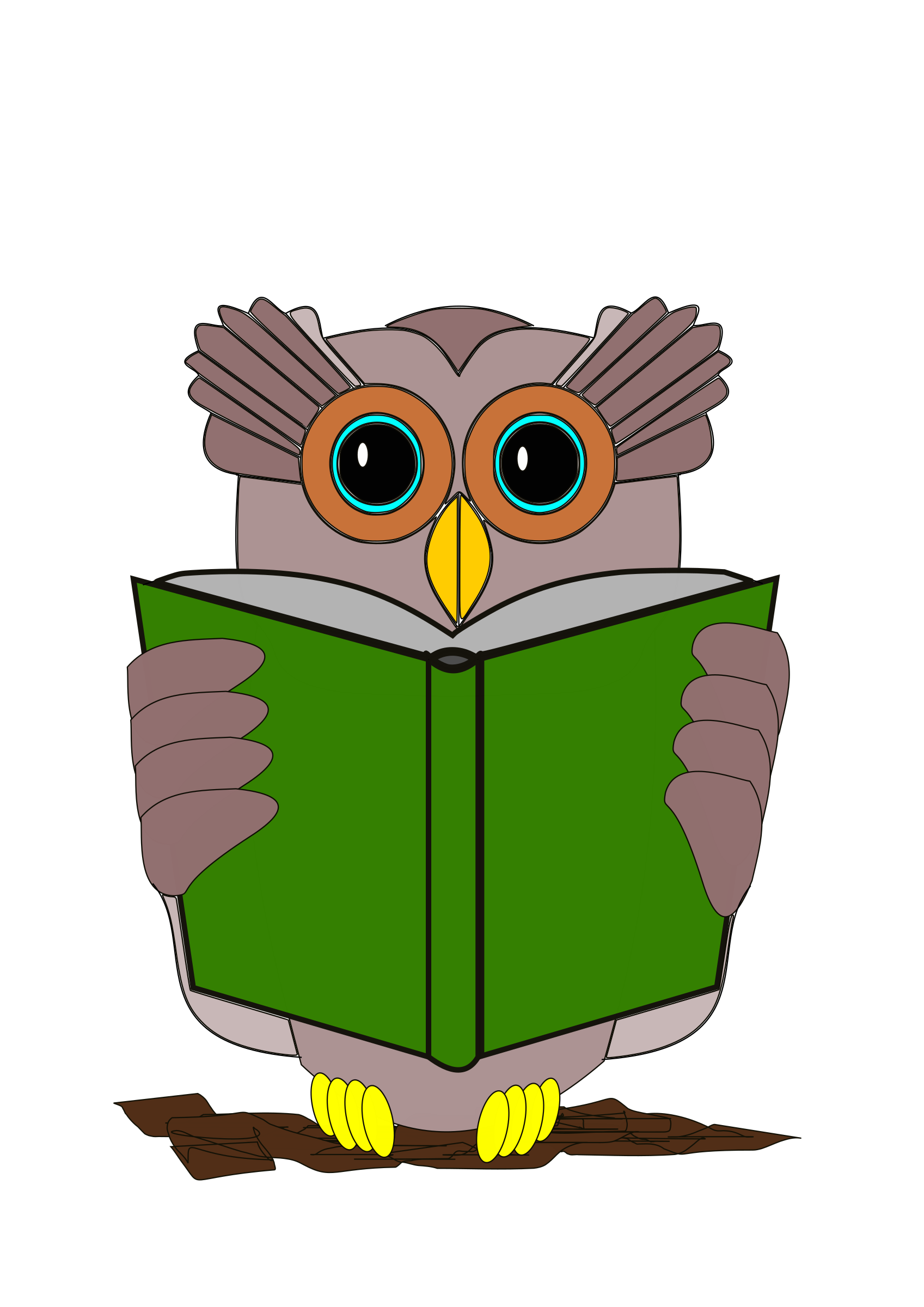 Owl reading book clipart png library Clipart - The owl is reading a book png library