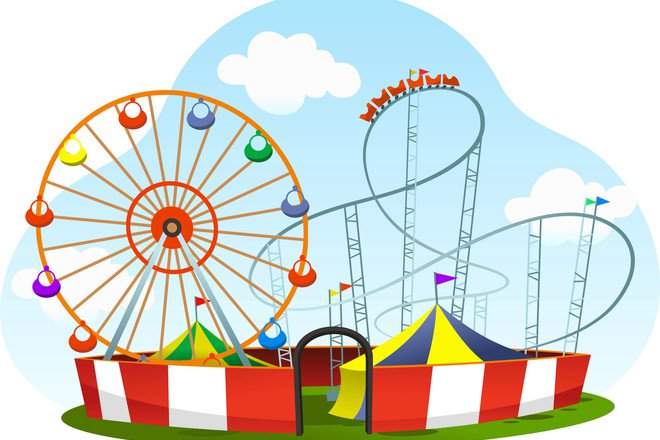 Animal ride in a amusment park clipart black and white 14 of the best theme parks for toddlers - Netmums black and white