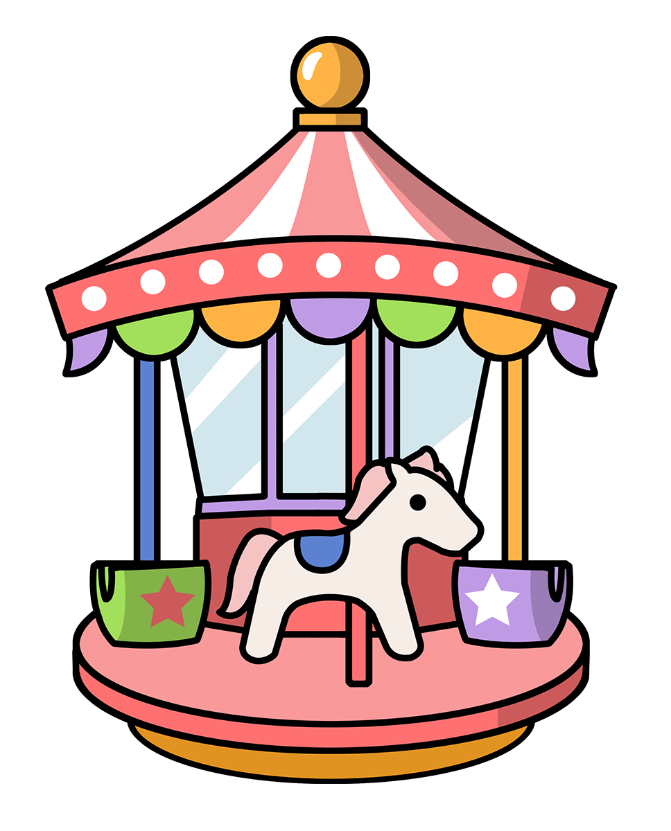 Animal ride in a amusment park clipart svg library stock Free to Use & Public Domain Theme Park Clip Art | Funfair | Clip art ... svg library stock