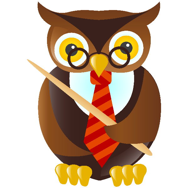 Animal school clipart banner black and white Owl School Teacher - School Funny Images banner black and white