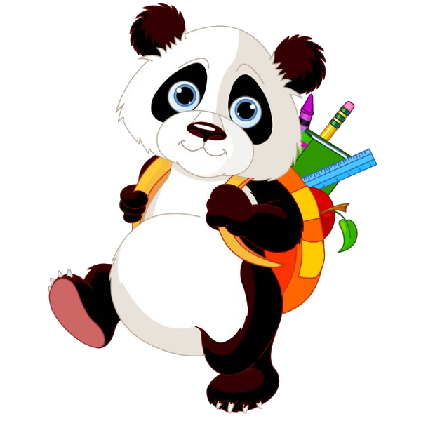 Animal school clipart picture transparent library Panda Bears Cartoon Animal Images Free To Download.All Bears Clip ... picture transparent library