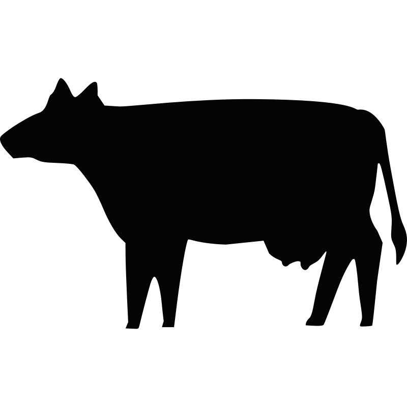 Animal silhouette clipart cow svg freeuse Holstein Friesian cattle Silhouette Clip art - Cow Silhouette png ... svg freeuse