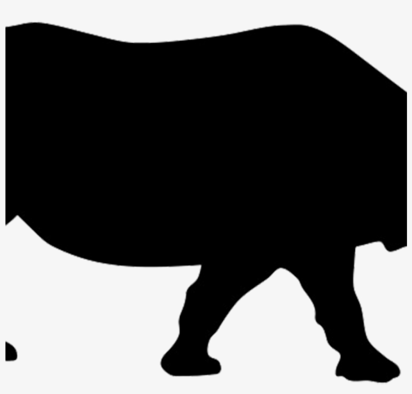 Animal silhouettes clipart graphic Animal Silhouettes Clipart Animal Silhouette Silhouette - Rhino ... graphic