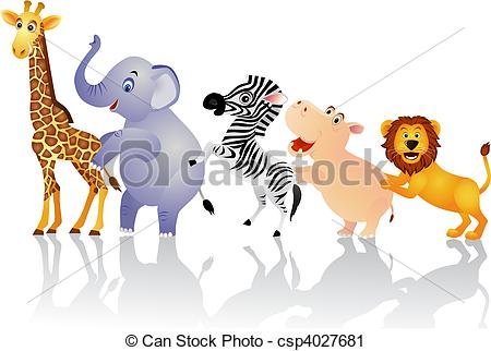 Animal stock clipart. Animals illustrations and art