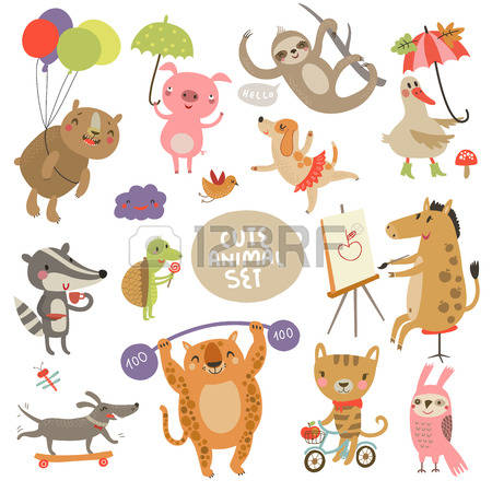 vector illustration and. Animal stock clipart