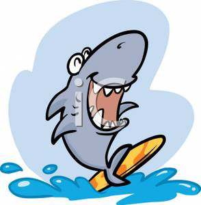 Animal surfing clipart svg free stock A Surfing Shark Clip Art Image svg free stock