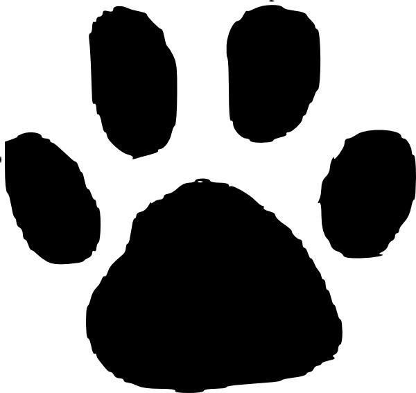 Cheetah paw print clipart vector transparent download Footprints animal footprint clip art free vector in open office ... vector transparent download