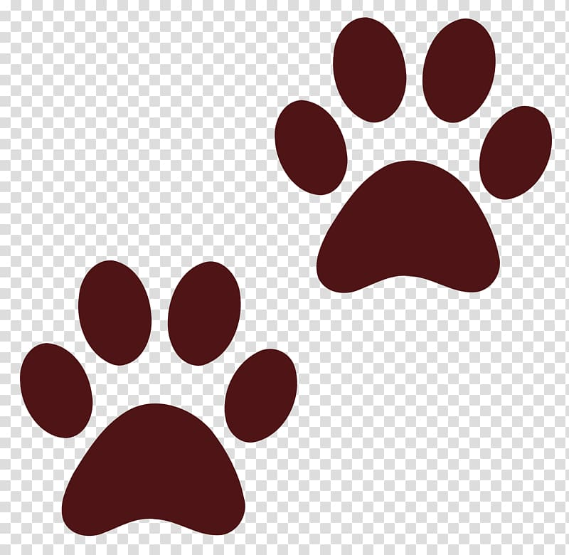 Animal tracks clipart transparent curv clip library library Two red paw illustration, Dog Paw Cat , Dog Paw Print transparent ... clip library library