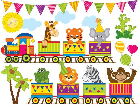 Animal train clipart clip art transparent stock ITEM: Zoo Train #Clipart - #Digital #Vector Zoo Train, Zoo Animals ... clip art transparent stock