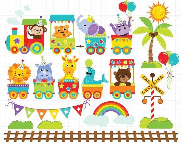 Animal train clipart jpg free stock Animal train clipart 6 » Clipart Portal jpg free stock