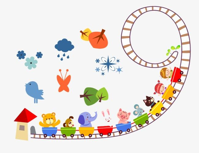 Animal train clipart image royalty free download Cute Cartoon Animal Train PNG, Clipart, Animal Clipart, Animals ... image royalty free download