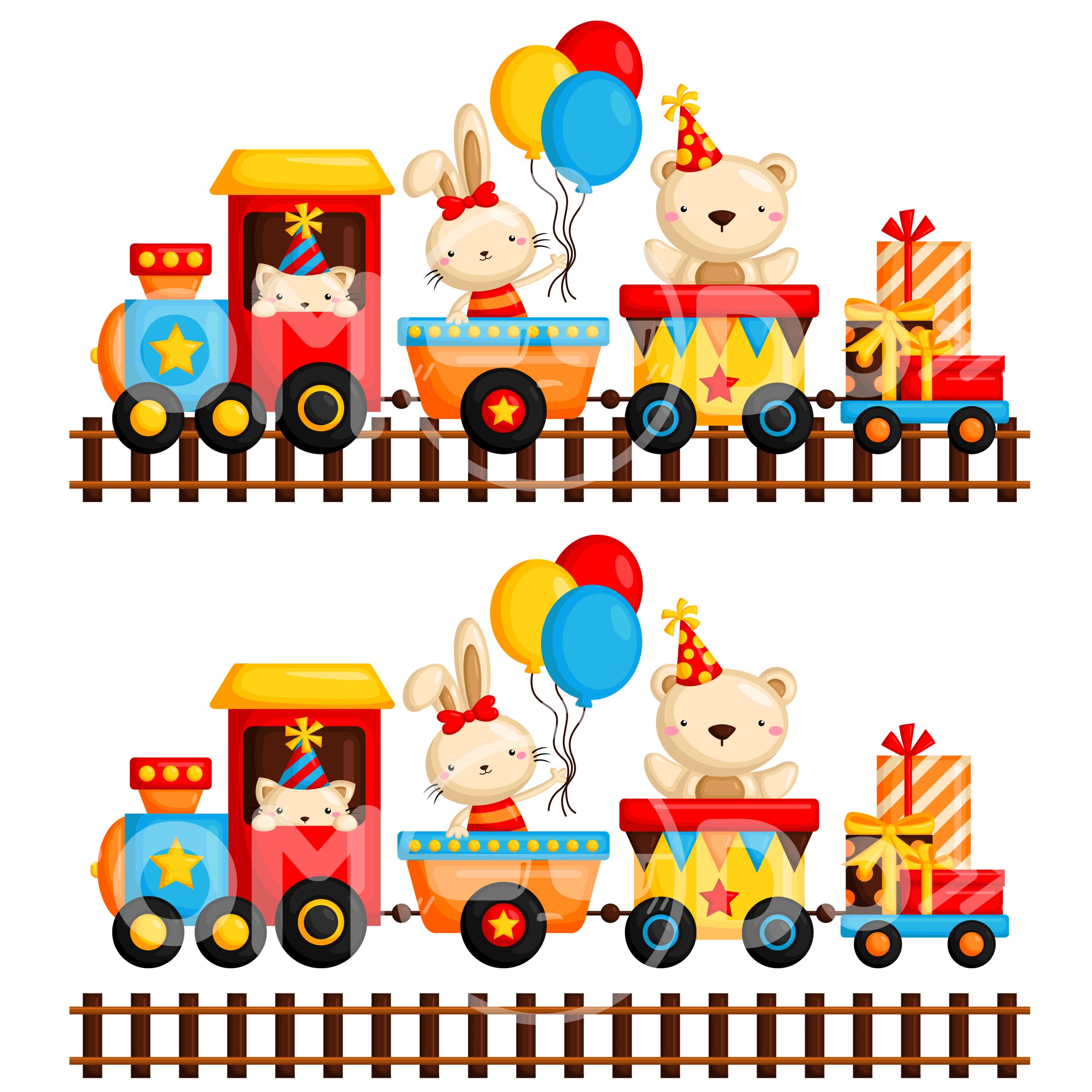 Animal train clipart vector transparent Shop Clip Art Collections Animal Birthday Train Clipart   Pictureicon vector transparent