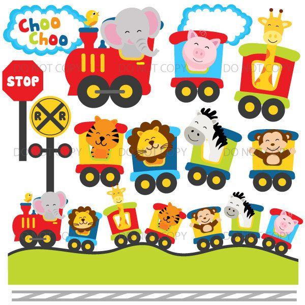 Animal train clipart free stock Animal zoo train clipart, choo choo train, cute animals, circus ... free stock
