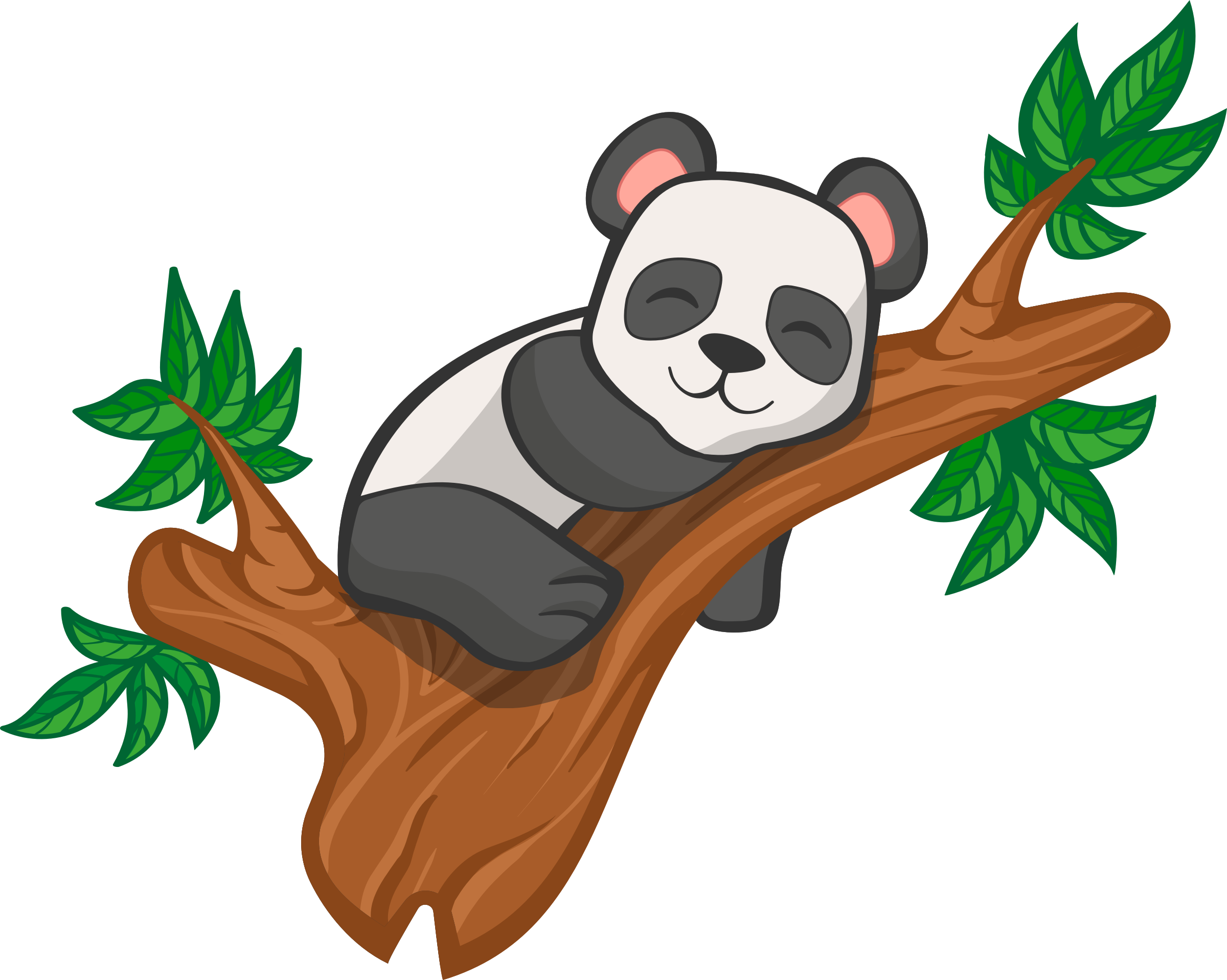 Clipart panda tree banner free download Clipart - Panda in tree banner free download