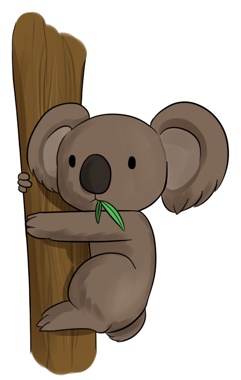 Bear tree clipart jpg transparent stock 28+ Collection of Cute Australian Animals Clipart | High quality ... jpg transparent stock