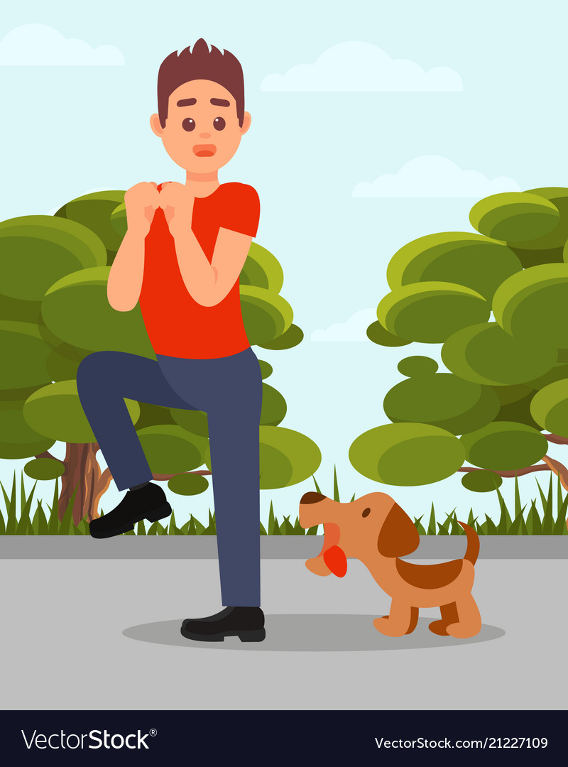 Animal vs man clipart svg freeuse download Small angry dog barking at man young guy in svg freeuse download