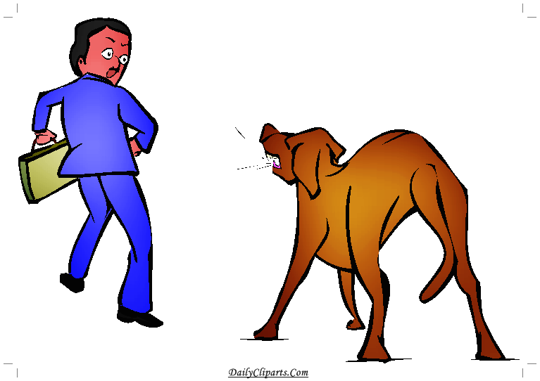 Animal vs man clipart jpg black and white stock Dog Barking on Man Clipart Picture | Daily Cliparts jpg black and white stock