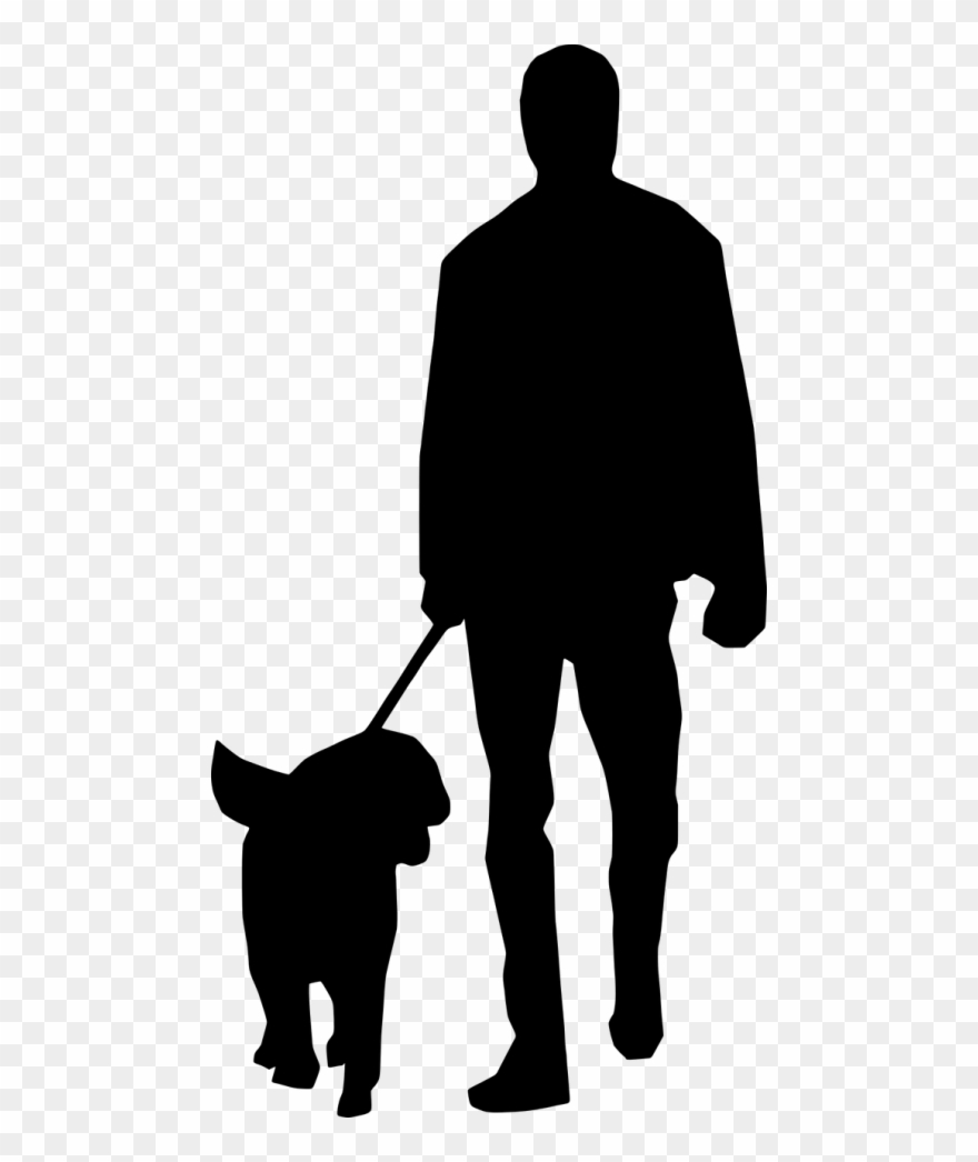 Animal vs man clipart svg free library Vector Graphics - Man With Dog Silhouette Clipart (#3320980 ... svg free library