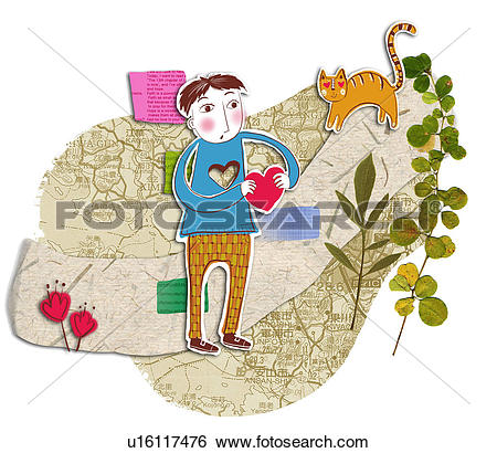 Stock Illustration of animals, heart, animal, plants, plant ... picture royalty free download