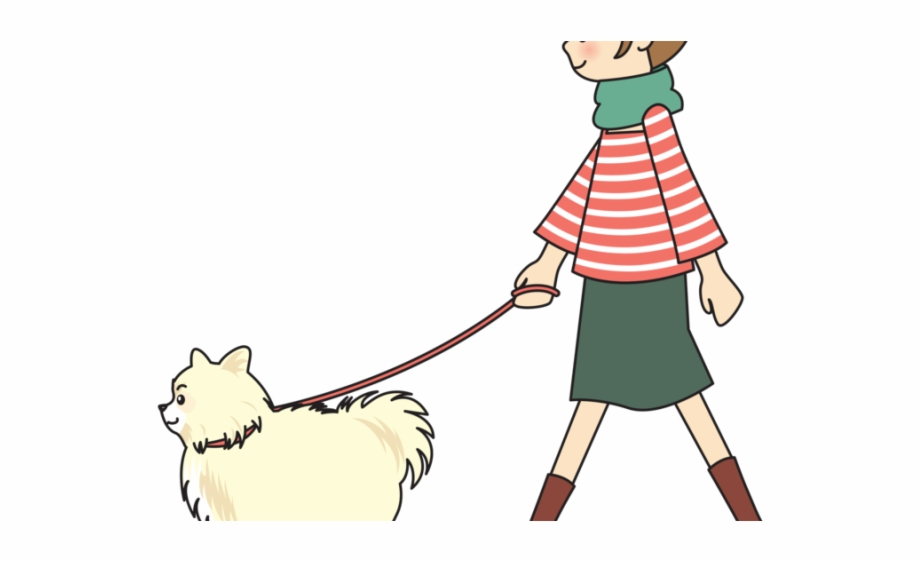 Waling dog clipart clip art free stock Dog-walking Cliparts - Girl Walking Dog Clipart Free PNG Images ... clip art free stock