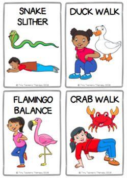 Animal walks clipart clipart royalty free download Animal Walks Movement Cards - Brain Breaks, Self-Regulation, Sensory ... clipart royalty free download