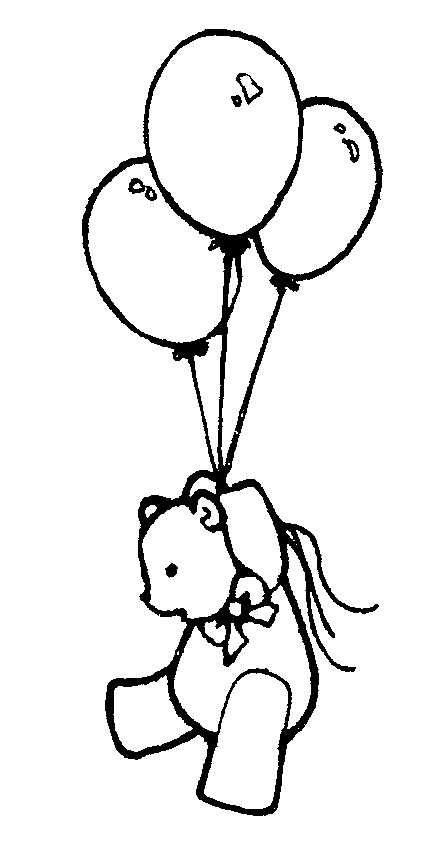 Birthday balloons clipart black white freeuse Birthday Balloons Clip Art Black And White | Clipart Panda - Free ... freeuse