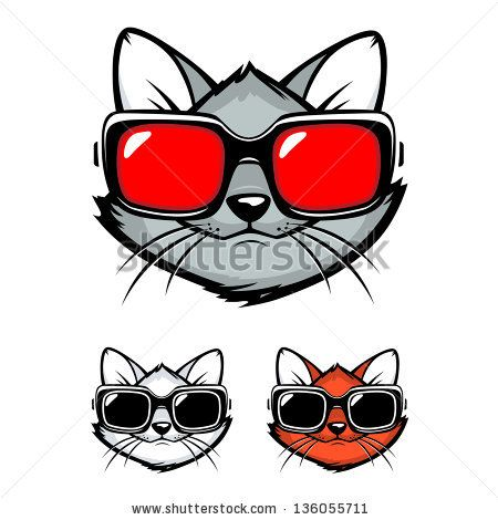 Animal with silly goggles clipart png free library Pin by Becky Eimer on Interesting Stuff | Cat sunglasses, Cat vector ... png free library