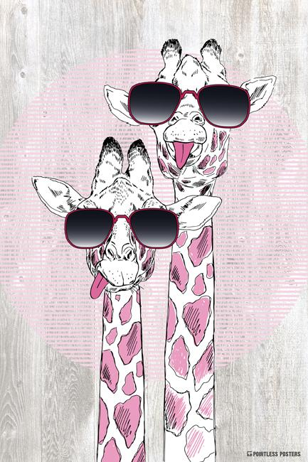 Animal with silly goggles clipart graphic free stock Giraffes With Sunglasses Poster   Posters   Giraffe painting ... graphic free stock