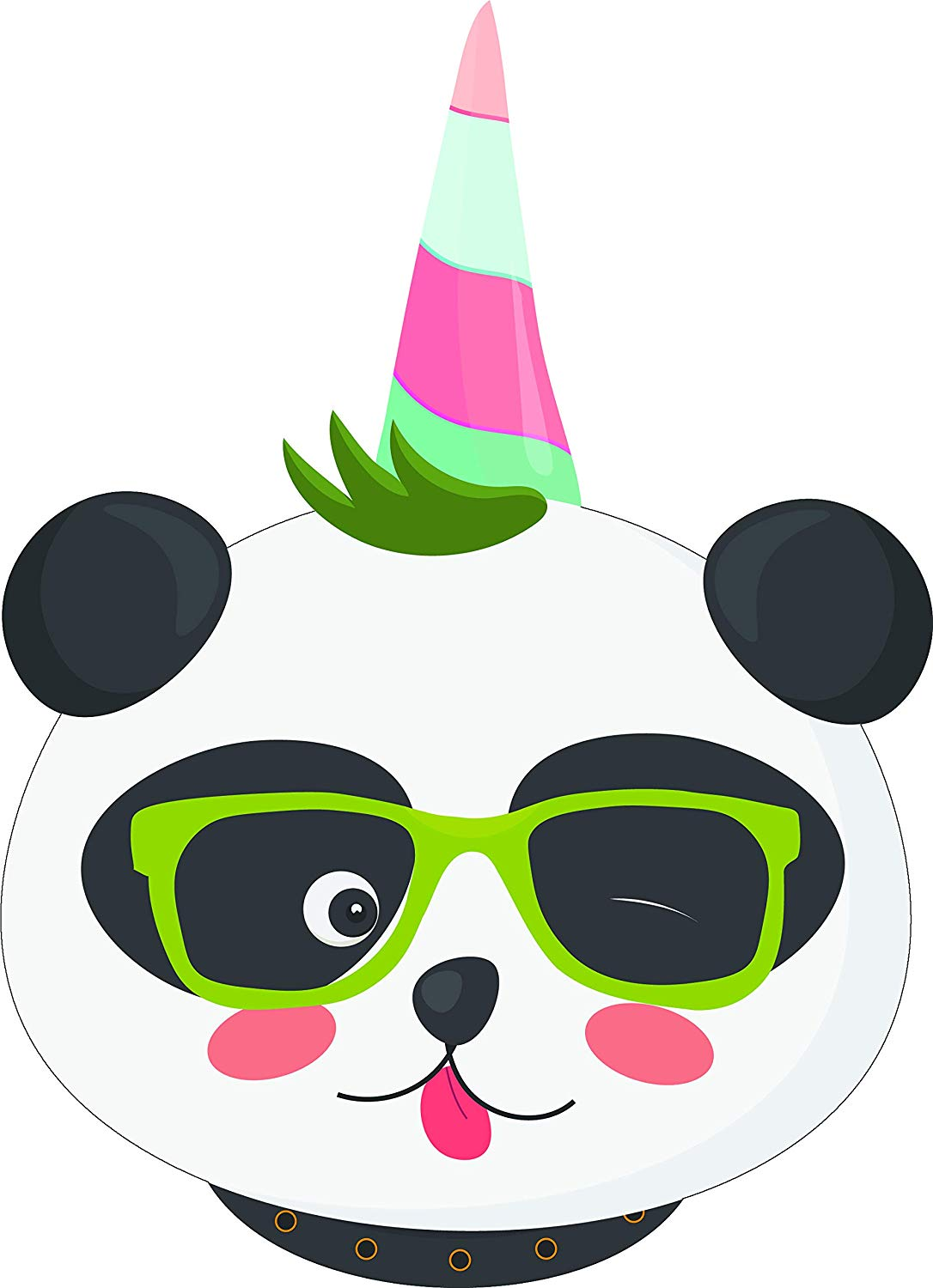 Animal with silly goggles clipart image library library Amazon.com: Cute Winking Panda Happy Birthday Party Silly Kawaii Fun ... image library library