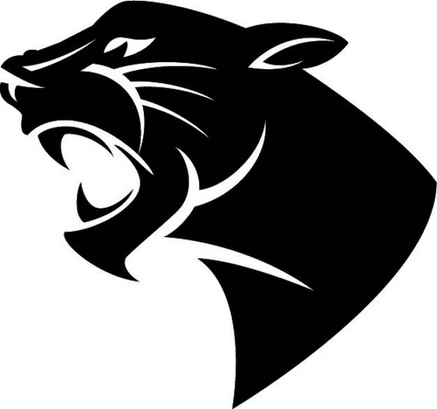 Black panther mascot clipart vector free stock Panther Head Clip Art Clipart - Free Clipart | Lion of judah ... vector free stock