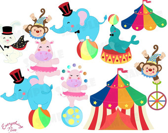Circus clipart free download image black and white library 14+ Circus Animals Clipart | ClipartLook image black and white library