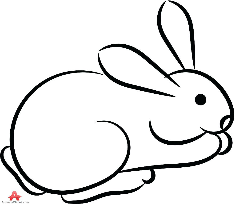 Animals clipart bunny image transparent library Outline Of A Bunny   Free download best Outline Of A Bunny on ... image transparent library