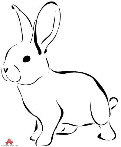 Rabbit animals cliparts