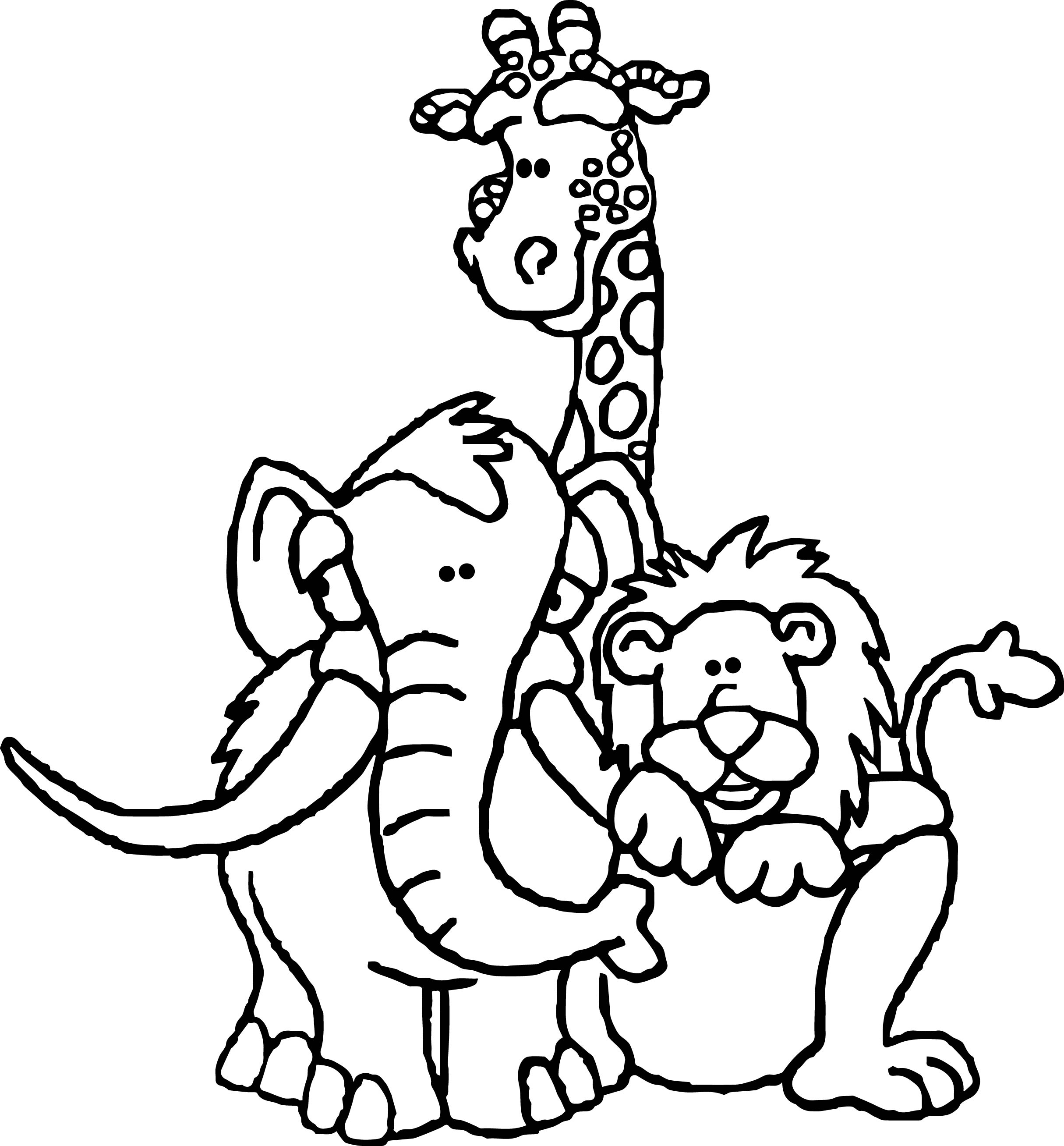 Animals clipart coloring pages banner royalty free download Coloring Pages: Coloring Book Three Zoo Animalloring Owl And March ... banner royalty free download