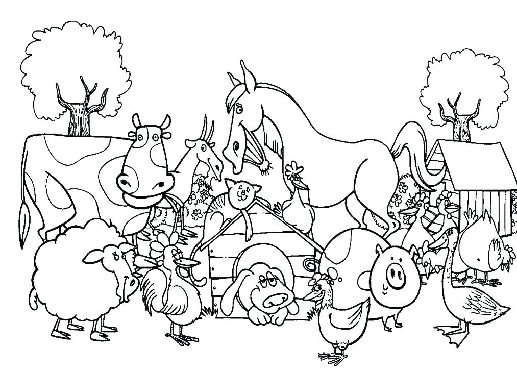 Animals clipart coloring pages vector transparent download Animal Coloring Pages - Best Coloring Pages For Kids vector transparent download