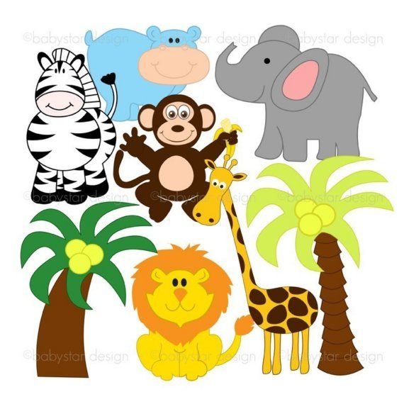 Free clipart of jungle animals clip transparent stock ANIMAL CLIPART FREE DOWNLOAD image galleries - imageKB.com | Clip ... clip transparent stock