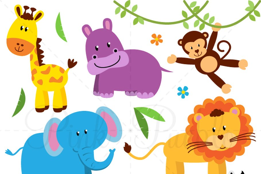 Animals clipart images clip stock Zoo, Jungle, Safari Animals Clipart clip stock