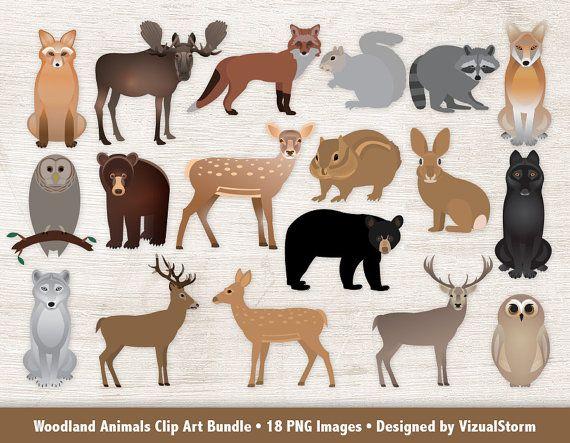 Animals clipart moose jpg royalty free stock Woodland Animals Clipart Bundle Forest Animal Graphics Woodland ... jpg royalty free stock